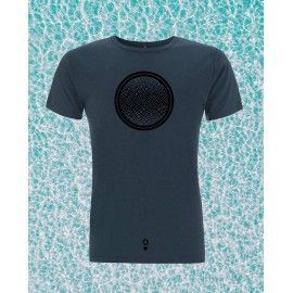 CAMISETA ECOLOGICA YOGA AZUL DENIM