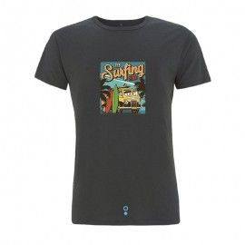Camiseta surfera Kanaluha color gris.