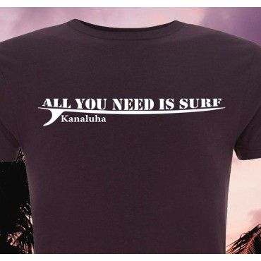Camiseta bambú chico All you need is surf