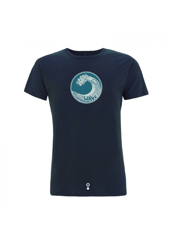 Camiseta surf Kanaluha, color gris.